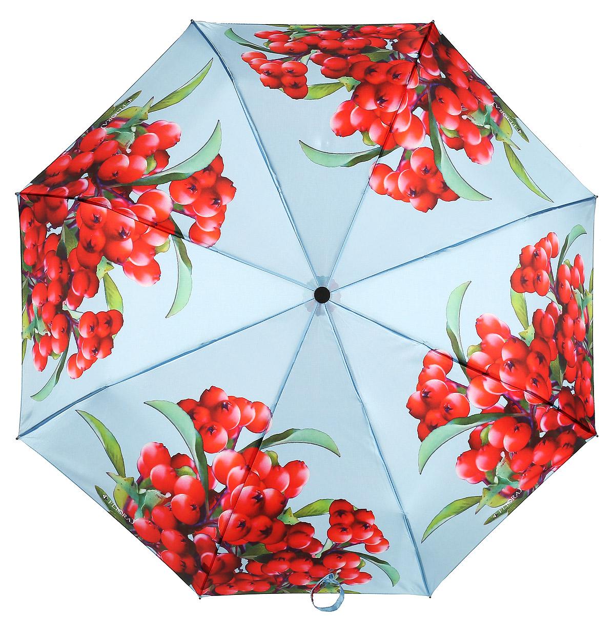 Зонт женский Flioraj, автомат, 3 сложения, цвет: красный, голубой. 190210 FJ190210 FJЭлегантный зонт FJ. Уникальный каркас из анодированной стали, карбоновые спицы помогут выдержать натиск ураганного ветра. Улучшенный механизм зонта, максимально комфортная ручка держателя, увеличенный в длину стержень, тефлоновая пропитка материала купола - совершенство конструкции с изысканностью изделия на фоне конкурентоспособной цены.