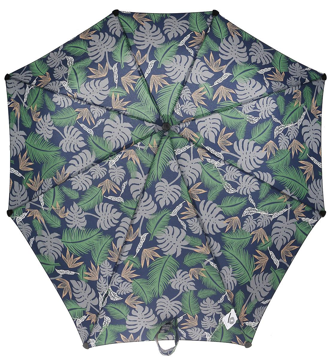 Зонт-автомат Senz, цвет: синий, зеленый. 10240151024015Инновационный противоштормовый зонт, выдерживающий любую непогоду. Входит в коллекцию senz6, разработанную совместно со знаменитыми дизайнерами фэшн-индустрии и отвечающую новейшим веяниям моды. Форма купола продумана так, что вы легко найдете самое удобное положение на ветру – без паники и без борьбы со стихией. Закрывает спину от дождя. Благодаря своей усовершенствованной конструкции, зонт не выворачивается наизнанку даже при сильном ветре. Характеристики: - тип — автомат - три сложения - выдерживает порывы ветра до 80 км/ч - УФ-защита 50+ - эргономичная ручка - безопасные колпачки на кончиках спиц - в комплекте чехол с фирменным принтом - гарантия 2 года Размер купола - 91 х 91 см., длина в сложенном виде - 28 см., в раскрытом - 57 см. Весит 360 г.