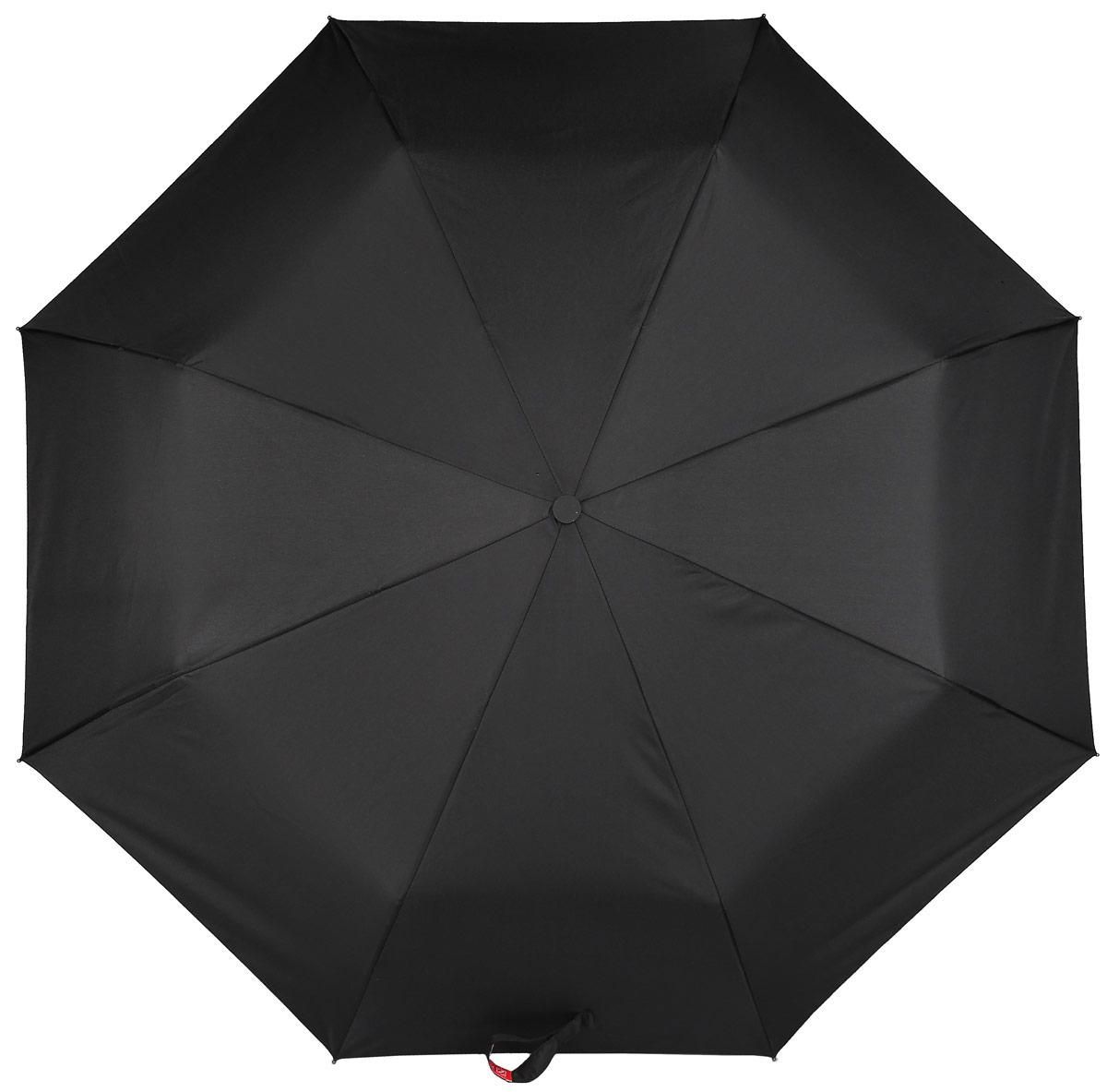 Зонт мужской Zemsa, автомат, 3 сложения, цвет: черный. 2222Зонт мужской выполнен из высококачественных материалов и сплавов. Классическая и стильная модель, станет великолепным аксессуаром и защитит своего хозяина от непогоды, не теряя своих функциональных характеристик и визуальной привлекательности в течение всего срока эксплуатации.