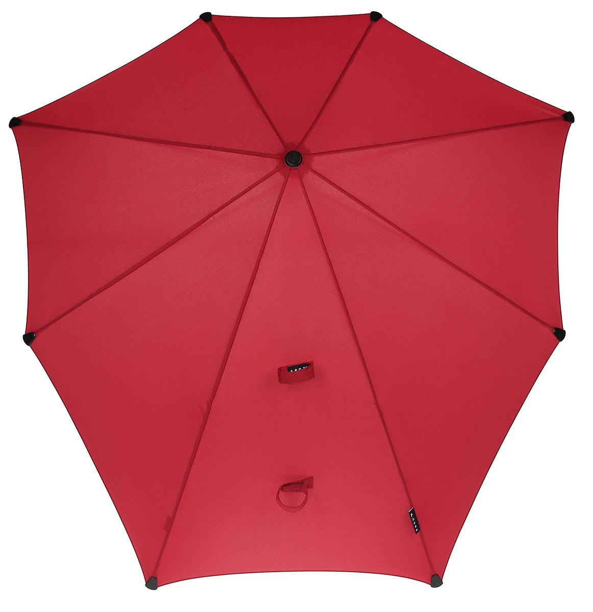 Зонт-трость Senz, цвет: красный. 20110472011047Вместо покупки нескольких дешевых зонтиков, которые легко ломаются, лучше преобрести надежный и качественный зонт от Senz. Инновационные противоштормовые зонты выдерживают любую непогоду. Форма купола продумана так, что вы легко найдете самое удобное положение на ветру – без паники и без борьбы со стихией. Закрывает спину от дождя. Благодаря своей усовершенствованной конструкции, зонт не выворачивается наизнанку даже при сильном ветре. Модель Senz Original выдержала испытания в аэротрубе со скоростью ветра 100 км/ч. Характеристики: - тип — трость - выдерживает порывы ветра до 100 км/ч - УФ-защита 50+ - удобная мягкая ручка - безопасные колпачки на кончиках спицах - в комплекте прочный чехол из плотной ткани с лямкой на плечо - гарантия 2 года Размер купола: 90 х 87 см, длина в сложенном виде - 79 см. Весит 440 г.