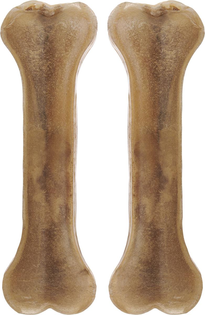 Лакомство для собак из жил Каскад Кость, длина 15 см, 2 шт90070103Лакомство для собак Каскад Кость идеально подходит для ухода за зубами и деснами. При ежедневном применении предупреждает образование зубного налета. Такая косточка будет аппетитным лакомством и занимательной игрушкой для вашего любимца. Комплектация: 2 шт. Размер косточки: 15 х 4,5 х 1,5 см. Вес одной косточки: 75-80 г. Товар сертифицирован.