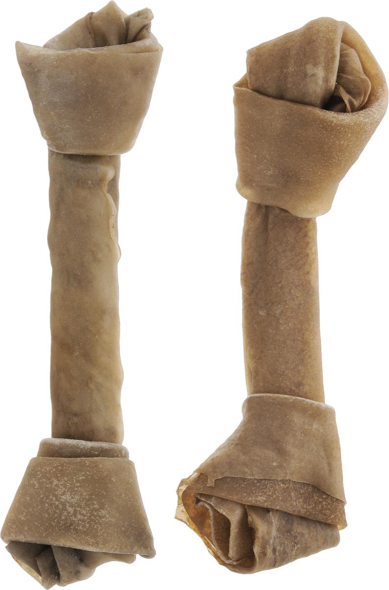 Лакомство для собак из жил Каскад Кость, с узлами, длина 20 см, 2 шт90072103Лакомство для собак Каскад Кость идеально подходит для ухода за зубами и деснами. При ежедневном применении предупреждает образование зубного налета. Такая косточка будет аппетитным лакомством и занимательной игрушкой для вашего любимца. Размер косточки: 20 х 5,5 х 3,5 см. Вес: 80-85 г. Товар сертифицирован.