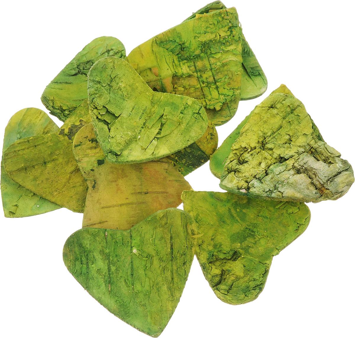 Декоративный элемент Dongjiang Art Сердце, цвет: зеленый, 10 шт7709011_зеленыйДекоративный элемент Dongjiang Art Сердце, изготовленный из натуральной коры дерева, предназначен для украшения цветочных композиций. Изделие можно также использовать в технике скрапбукинг и многом другом. Флористика - вид декоративно-прикладного искусства, который использует живые, засушенные или консервированные природные материалы для создания флористических работ. Это целый мир, в котором есть место и строгому математическому расчету, и вдохновению. Размеры одного элемента: 5 х 5 см.