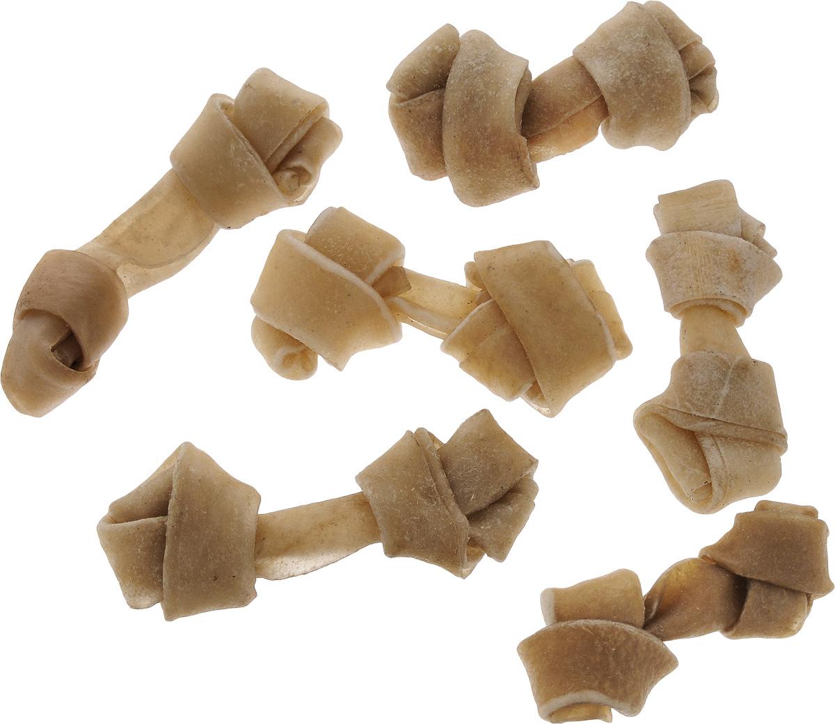 Лакомство для собак из жил Каскад Кость, с узлами, длина 8 см, 6 шт90072101Лакомство для собак Каскад Кость идеально подходит для ухода за зубами и деснами. При ежедневном применении предупреждает образование зубного налета. Такая косточка будет аппетитным лакомством и занимательной игрушкой для вашего любимца. Размер косточки: 8 х 2,5 х 1,5 см. Вес: 9-11 г. Товар сертифицирован.