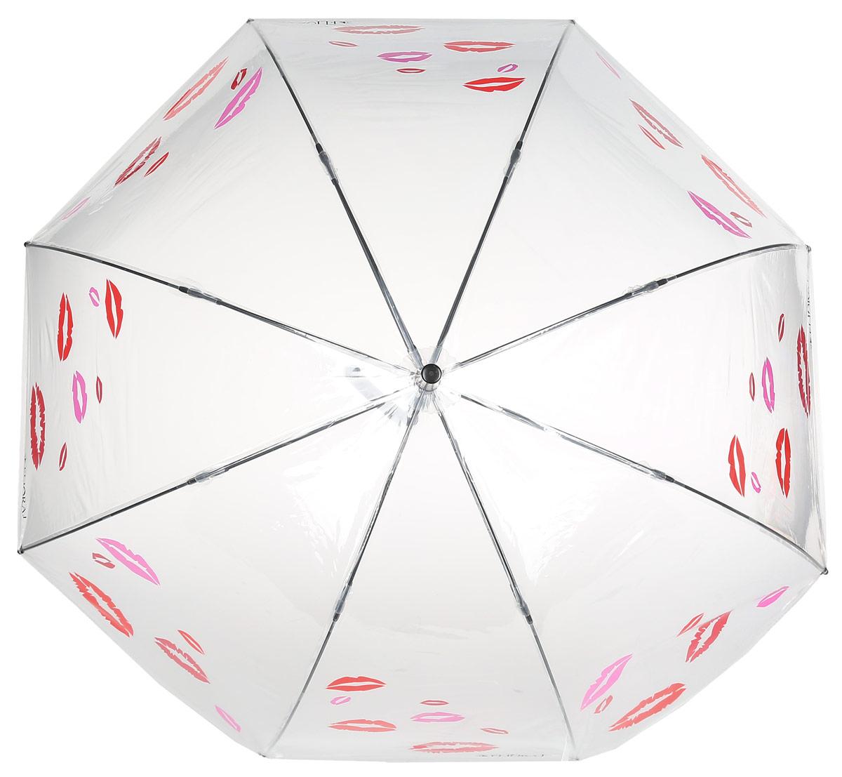 Зонт женский Flioraj, механика, трость, цвет: красный, белый. 121204 FJ121204 FJЭлегантный зонт FJ. Уникальный каркас из анодированной стали, карбоновые спицы помогут выдержать натиск ураганного ветра. Улучшенный механизм зонта, максимально комфортная ручка держателя, увеличенный в длину стержень, тефлоновая пропитка материала купола - совершенство конструкции с изысканностью изделия на фоне конкурентоспособной цены.