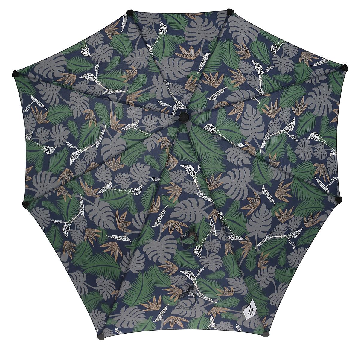 Зонт-трость Senz, цвет: синий, зеленый. 20140072014007Инновационный противоштормовый зонт, выдерживающий любую непогоду .Входит в коллекцию senz6, разработанную совместно со знаменитыми дизайнерами фэшн-индустрии и отвечающую новейшим веяниям моды. Форма купола продумана так, что вы легко найдете самое удобное положение на ветру – без паники и без борьбы со стихией. Закрывает спину от дождя. Благодаря своей усовершенствованной конструкции, зонт не выворачивается наизнанку даже при сильном ветре. Характеристики: - тип — трость - выдерживает порывы ветра до 100 км/ч - УФ-защита 50+ - удобная мягкая ручка - безопасные колпачки на кончиках спицах - в комплекте чехол с фирменным принтом - гарантия 2 года Размер купола - 90 х 87 см, длина в сложенном виде - 79 см. Весит 440 г.