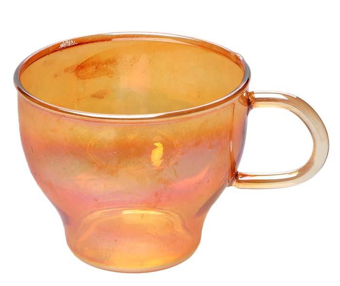 Чашка из желтого стекла. СССР, 60-е годы XX векаПБ ДПА 16082016-8Чашка из желтого стекла. СССР, 60-е годы XX века. Высота 6 см. Диаметр 7 см. Сохранность хорошая.