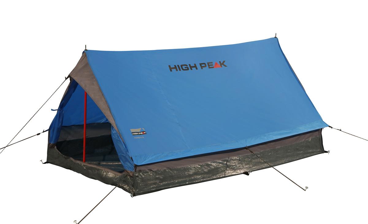 Палатка для трекинга High Peak Minipack 2, цвет: синий10156Такая близкая сердцу, проверенная сотнями походов двухскатная палатка на вертикальных стальных стойках. Достаточно компактная и легкая, она позволит останавливаться на ночевки в одно- или двухдневных походах. Один выход может расстегиваться на две равные половины. Если становится жарко, достаточно раскрыть пологи входа и оставить москитную сетку на входе для хорошей вентиляции. Материал тента имеет полиуретановое покрытие и водонепроницаемость не менее 1000 мм водяного столба. Это защитит вас от несильного дождя. За счет вертикальных стенок в основании палатки Minipack располагает приличным внутренним объемом. Дно палатки выполнено из армированного полиэтилена, водонепроницаемость 3000 мм. Палатка двухместная.