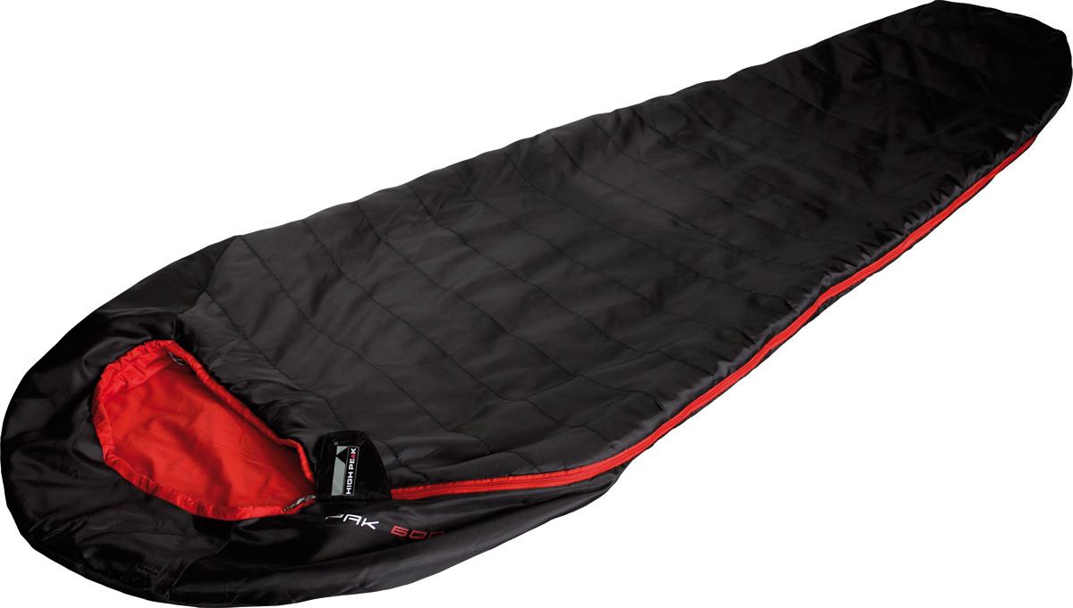 Спальник High Peak Pak 600, цвет: черный, левосторонняя молния23303Один из самых легких и компактных спальников на рынке профессионального снаряжения. Спальник подходит для летних путешествий или как вкладыш при зимних походах. Внешняя ткань усилена плетением рипстоп, а внутренняя ткань хорошо испаряет влагу и приятна на ощупь. Спальник имеет полноценный капюшон, защищающий голову в прохладную ночь. В верхней части молния фиксируется клапаном на липучке Velcro. На молнии два бегунка, которые позволяют расстегнуть спальник со стороны ног и сделать вентиляционное окно. Вдоль молнии идет защита от закусывания молнией ткани спальника. Спальник утеплен высокоэффективным полым волокном DuraLoft с силиконовым покрытием волокон. Плотность утеплителя равна 50 грамм на кв. метр с обеих сторон спальника. В комплекте со спальником идет транспортировочный компрессионный чехол объемом 2,7 л. Внешняя ткань Рипстоп полиэстер (PolyesterRipStop) 210T Внутренняя ткань Шелковистый Полиэстер (SilkPolyester) 240T Утеплитель DuraLoft 50 (1х50) г/м2. Сторона...