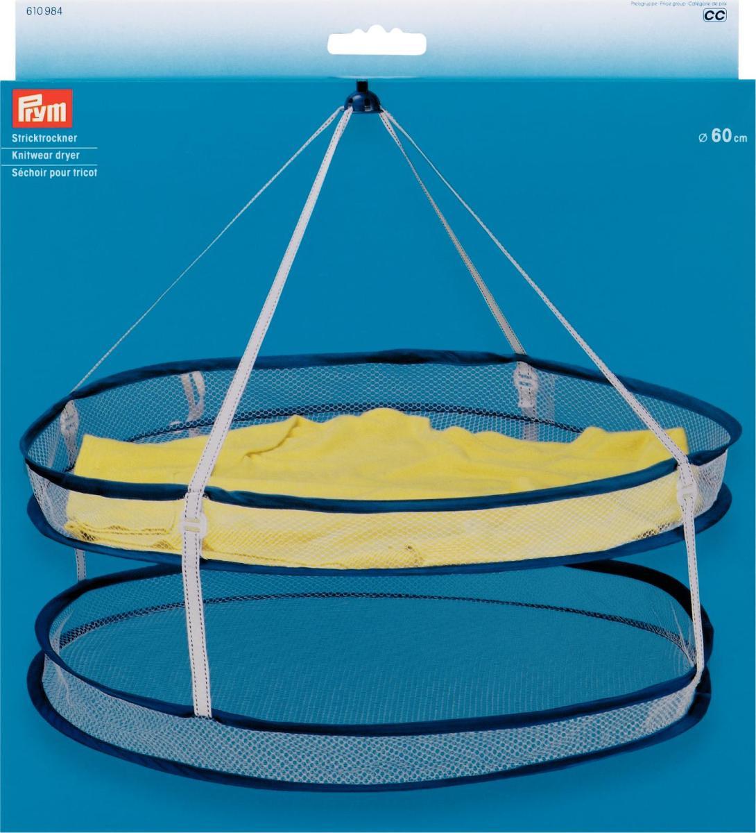 Сушилка для трикотажа Prym, подвесная, диаметр 60 см610984Сушилка подвесная для трикотажа идеально подходит для сушки трикотажа и тонкого белья на воздухе, препятствует перетяжке одежды