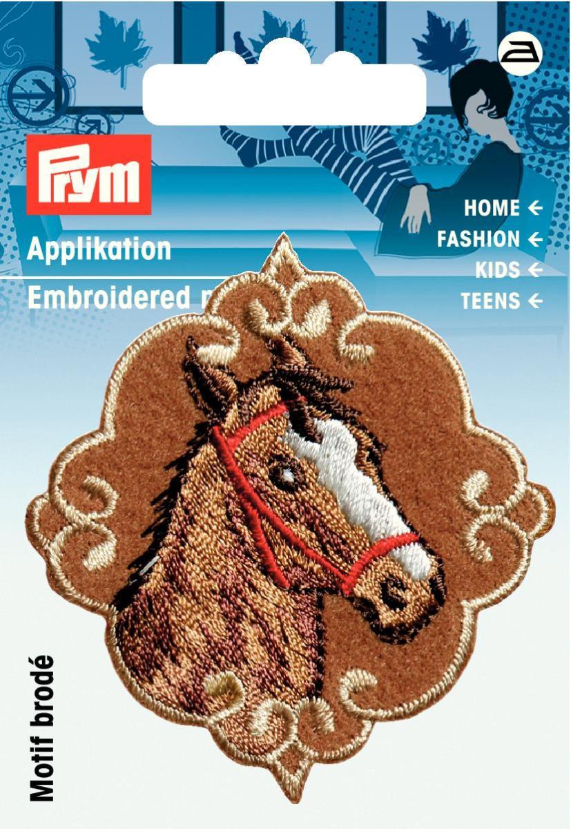 Аппликация Prym Голова лошади, цвет: коричневый, бежевый925460