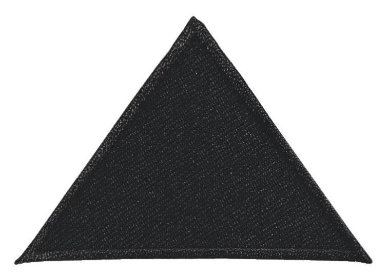 Аппликация Prym Треугольники, цвет: черный925466