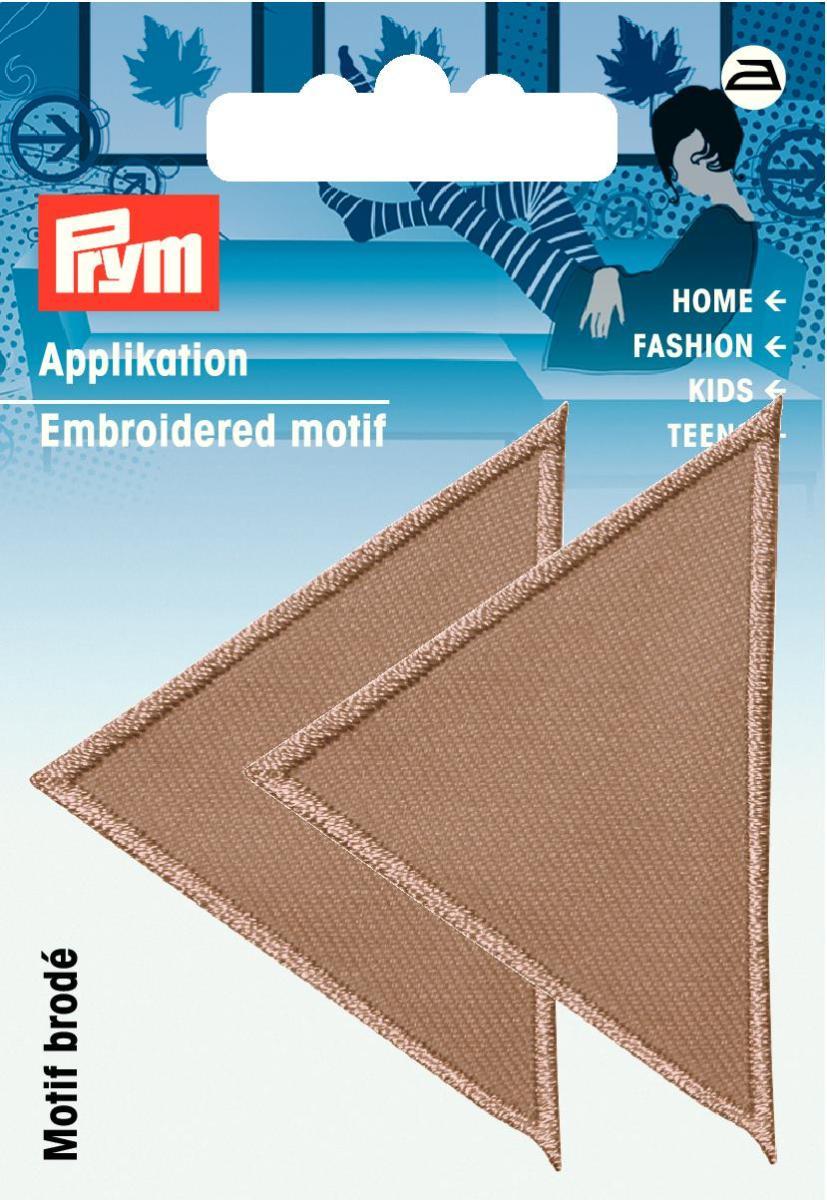 Аппликация Prym Треугольники, цвет: темно-бежевый925475