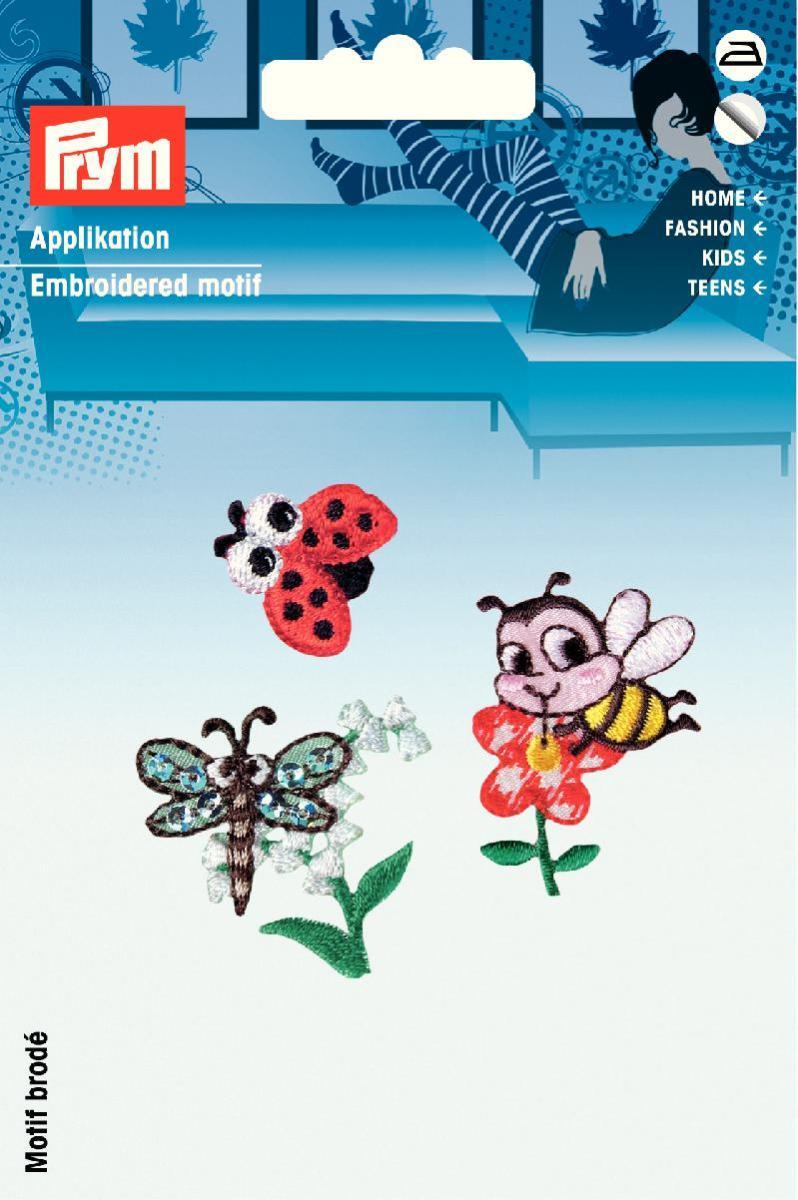 Аппликация Prym Пчелка, бабочка, божья коровка, самоклеящаяся925530