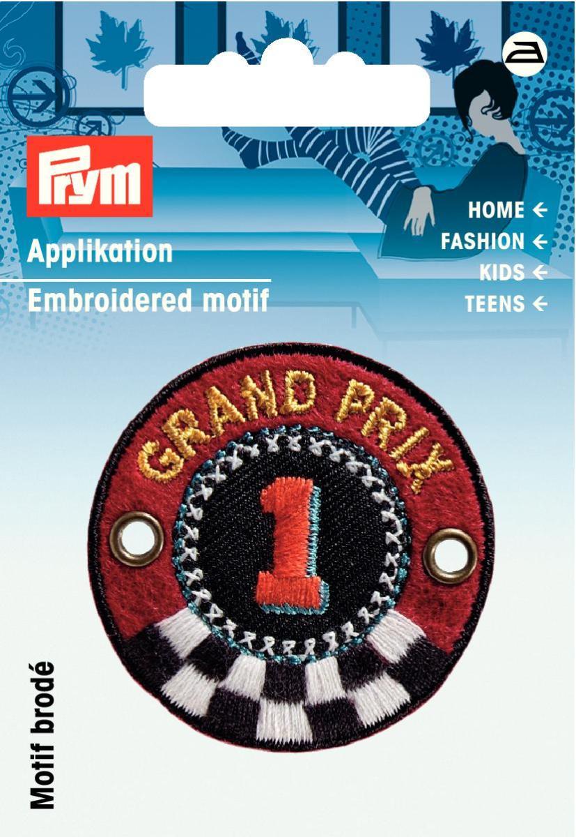 Аппликация Prym Grand Prix, цвет: красный, черный925943