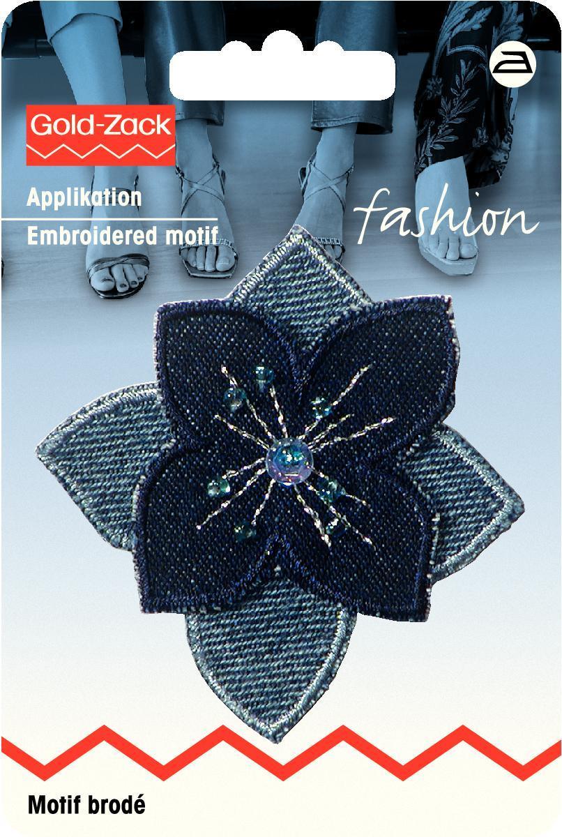 Аппликация Prym Цветок, с бусинами, цвет: синий926139
