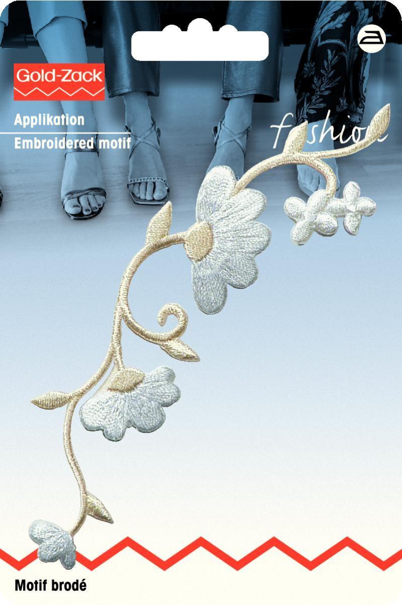 Аппликация Prym Гирлянда из цветов, цвет: белый, кремовый926149