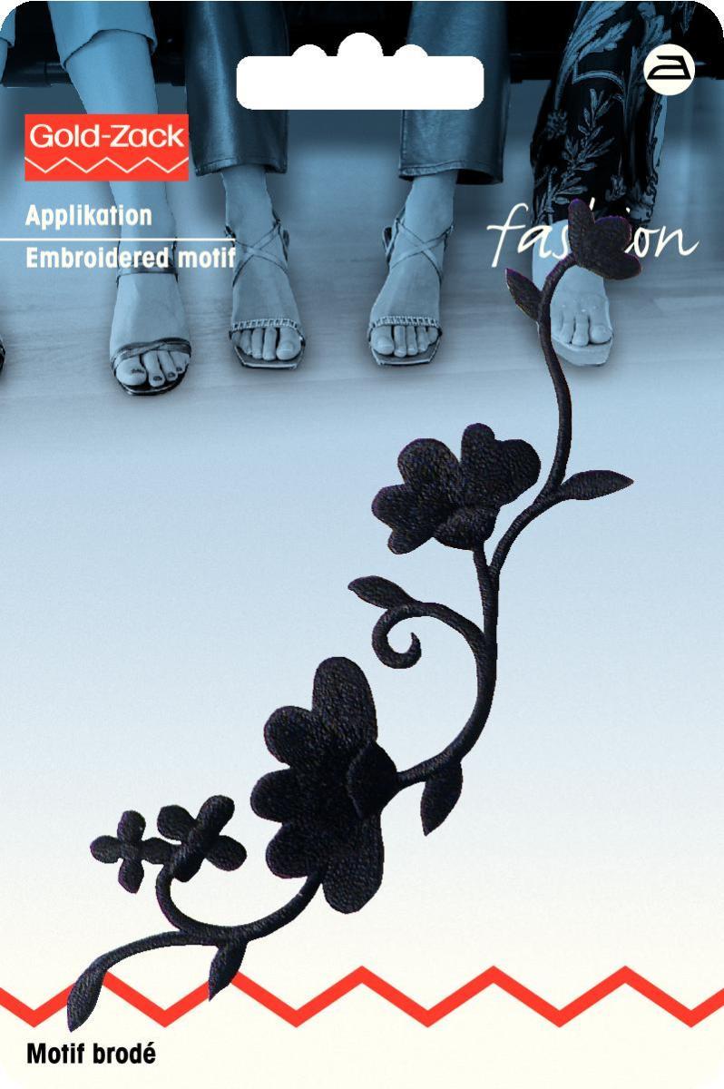 Аппликация Prym Гирлянда из цветов, цвет: черный926150