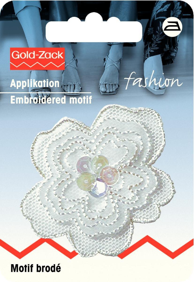Аппликация Prym Цветок с блестками, цвет: белый926160