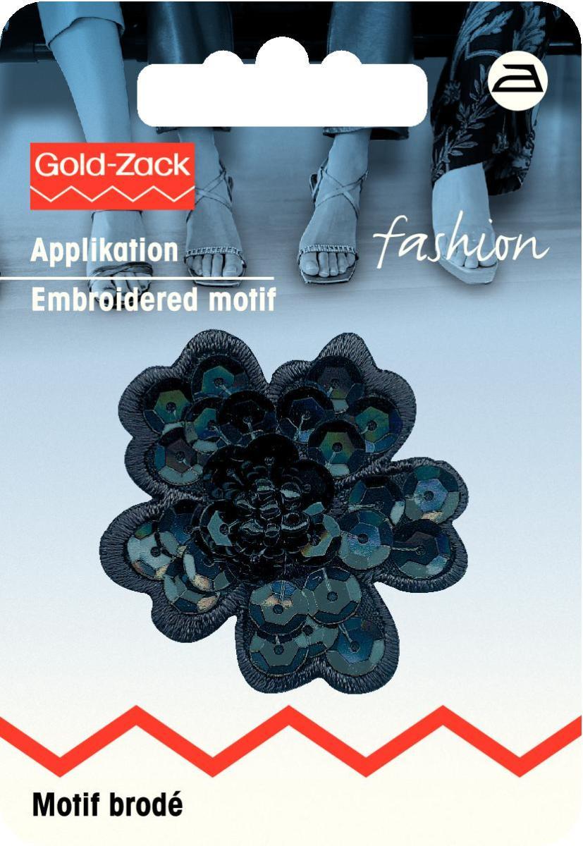 Аппликация Prym Цветок из блесток, цвет: черный926182