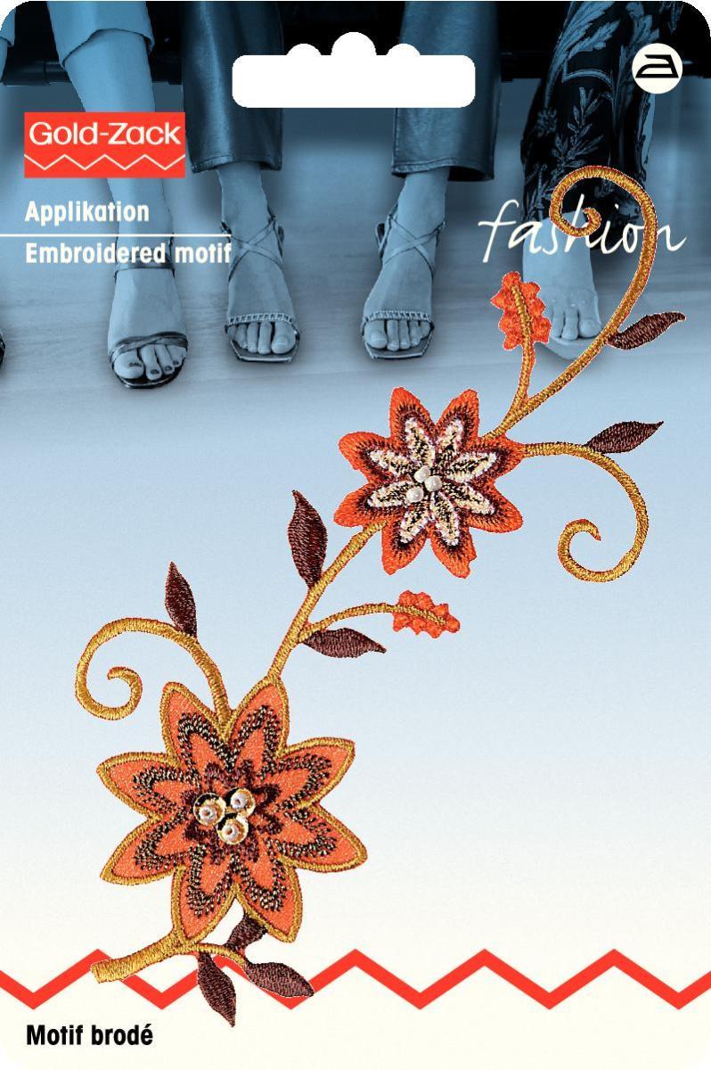 Аппликация Prym Вьюнчик, с бусинами, цвет: оранжевые, коричневый926330