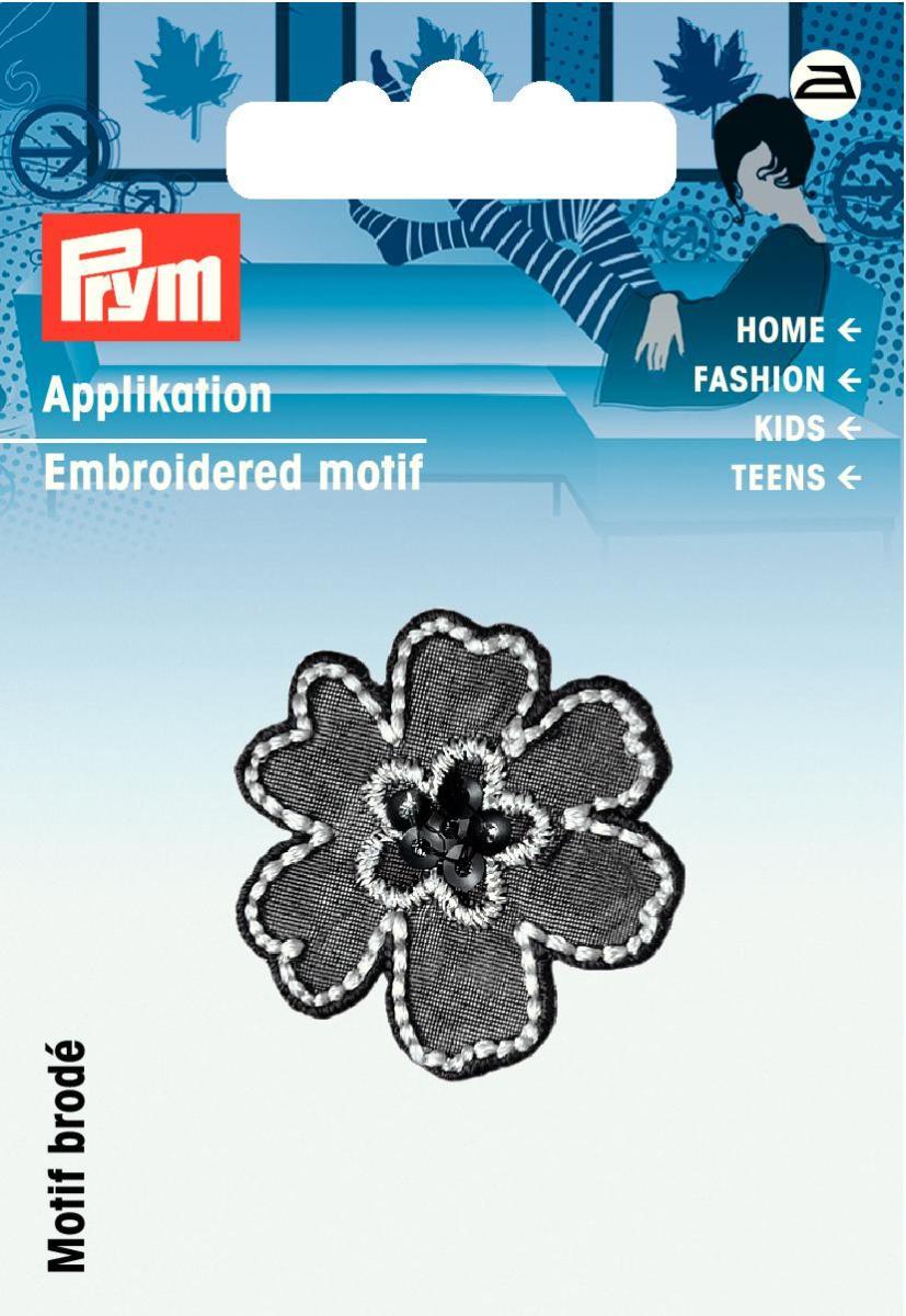 Аппликация Prym Цветок, цвет: черный926566