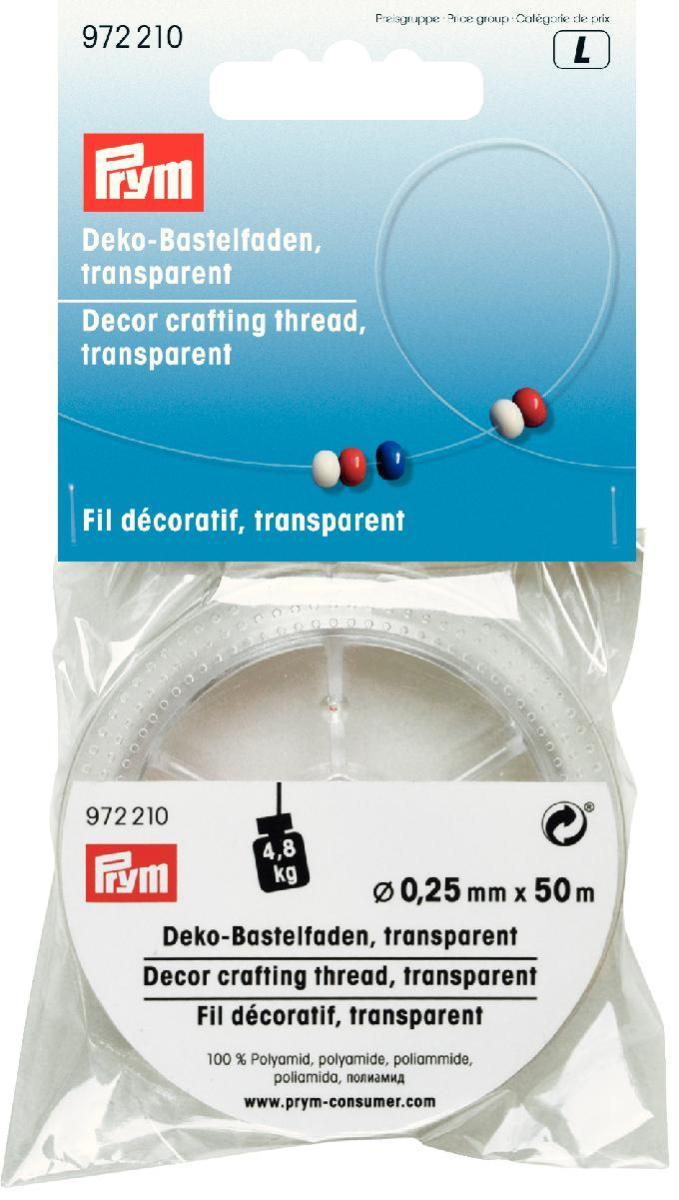 Нить для декоративного рукоделия Prym, 50 м972210Широкие возможности применения для рукоделия и отделки