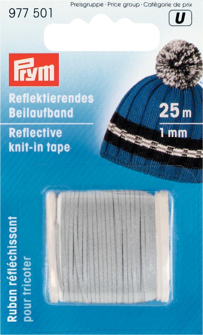 Светоотражающая лента для вязания Prym, 1 мм х 25 м977501Добавляется при вязании к основной нити, сосветоражающим эффектом