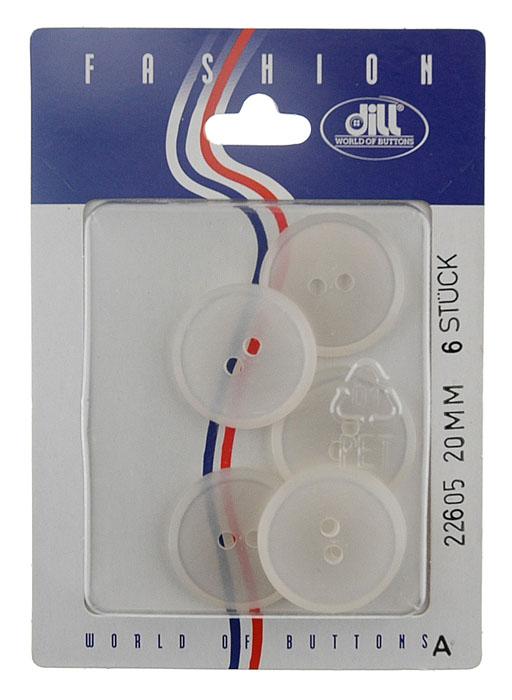 Пуговицы Dill, диаметр 20 мм, пластик, 6 шт. 022605/20-6022605/20-6