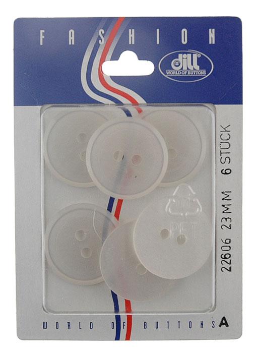 Пуговицы Dill, диаметр 23 мм, пластик, 6 шт. 022606/23-6022606/23-6