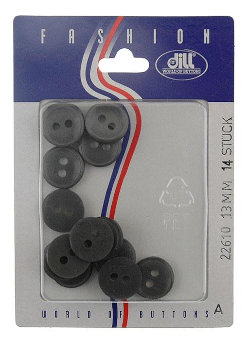 Пуговицы Dill, диаметр 13 мм, пластик, 14 шт. 022610/13-14022610/13-14