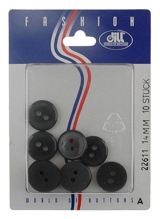 Пуговицы Dill, диаметр 14 мм, пластик, 10 шт. 022611/14-10022611/14-10