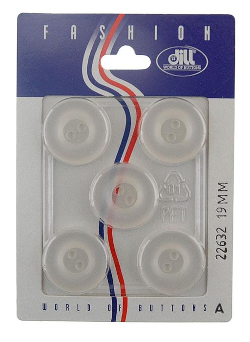 Пуговицы Dill, диаметр 19 мм, пластик, 5 шт. 022632/19-5022632/19-5
