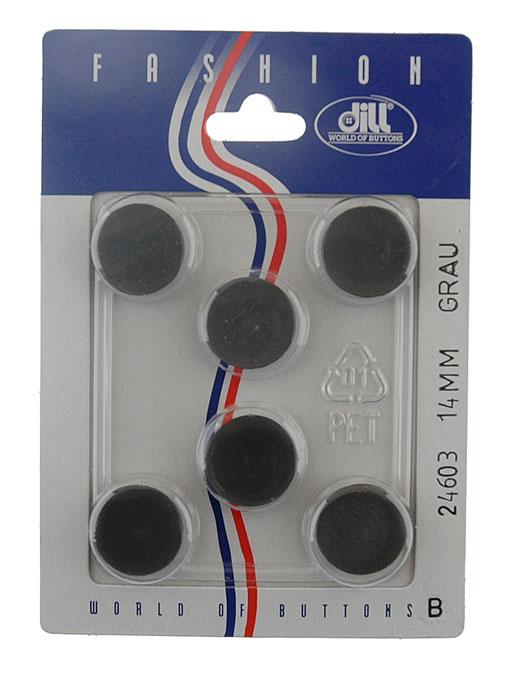 Пуговицы Dill, диаметр 14 мм, пластик, 6 шт. 024603/14-6024603/14-6