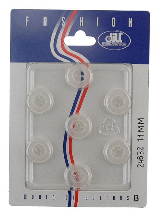 Пуговицы Dill, диаметр 11 мм, пластик, 7 шт. 024632/11-7024632/11-7