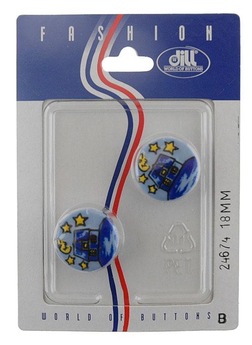 Пуговицы Dill, диаметр 18 мм, пластик, 2 шт. 024674/18-2024674/18-2
