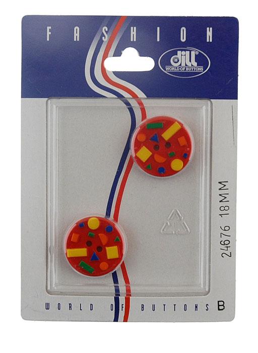 Пуговицы Dill, диаметр 18 мм, пластик, 2 шт. 024676/18-2024676/18-2