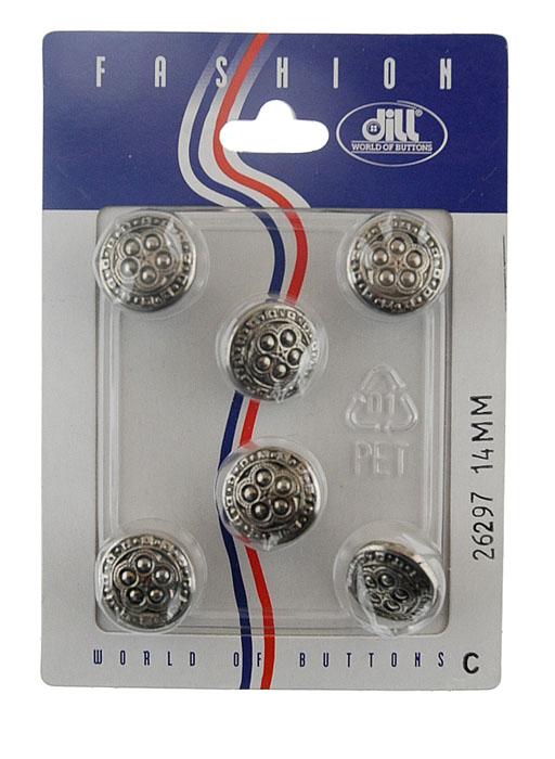 Пуговицы Dill, диаметр 14 мм, пластик, 6 шт. 026297/14-6026297/14-6