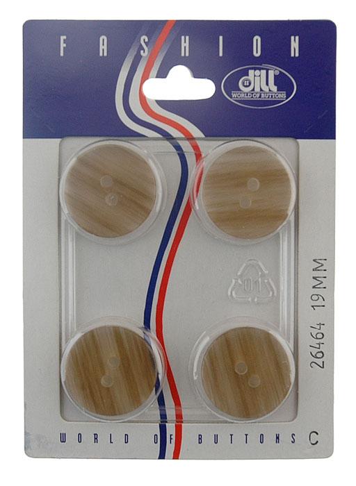 Пуговицы Dill, диаметр 19 мм, пластик, 4 шт. 026464/19-4026464/19-4