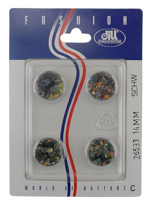 Пуговицы Dill, диаметр 14 мм, пластик, 4 шт. 026533/14-4026533/14-4