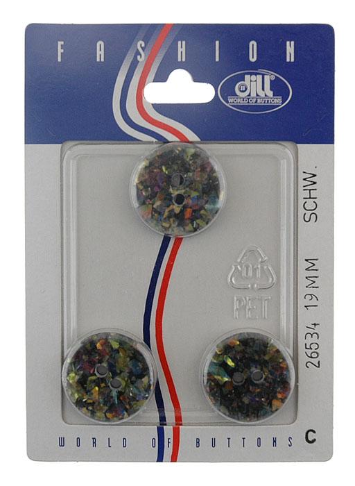 Пуговицы Dill, диаметр 19 мм, пластик, 3 шт. 026534/19-3026534/19-3
