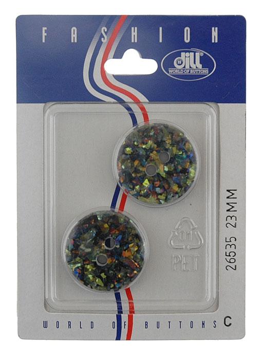 Пуговицы Dill, диаметр 23 мм, пластик, 2 шт. 026535/23-2026535/23-2