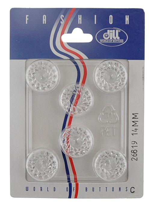 Пуговицы Dill, диаметр 14 мм, пластик, 6 шт. 026619/14-6026619/14-6