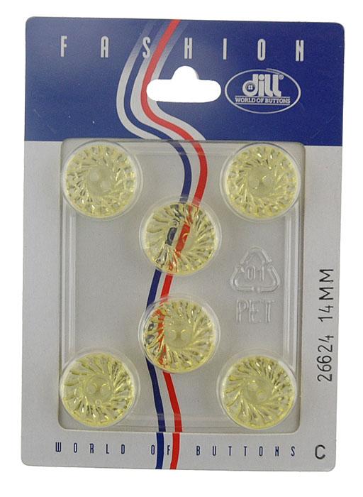 Пуговицы Dill, диаметр 14 мм, пластик, 6 шт. 026624/14-6026624/14-6