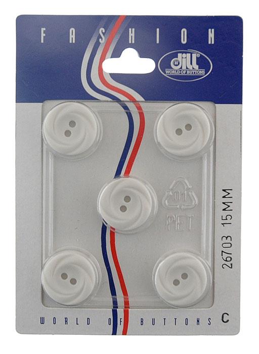 Пуговицы Dill, диаметр 15 мм, пластик, 5 шт. 026703/15-5026703/15-5