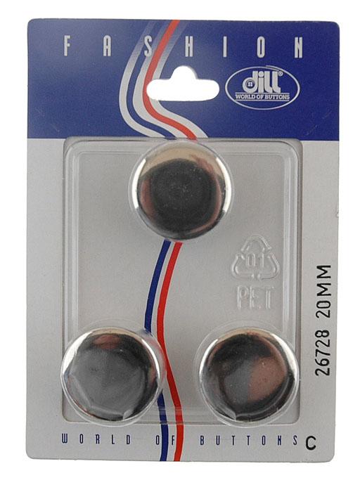Пуговицы Dill, диаметр 20 мм, металл, 3 шт. 026728/20-3026728/20-3