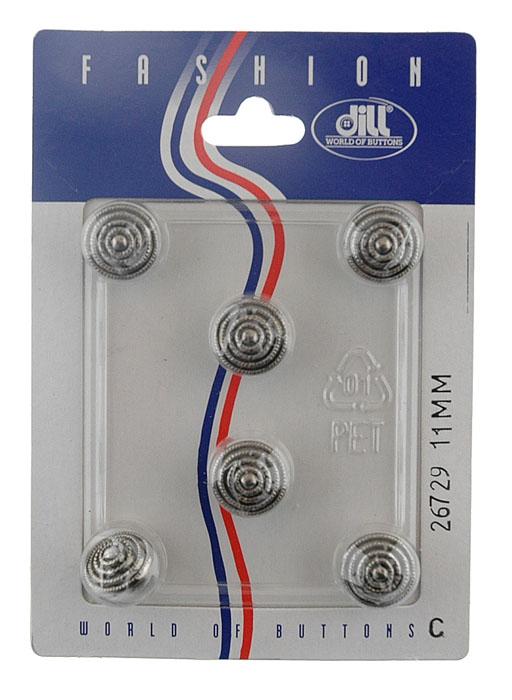 Пуговицы Dill, диаметр 11 мм, пластик, 6 шт. 026729/11-6026729/11-6