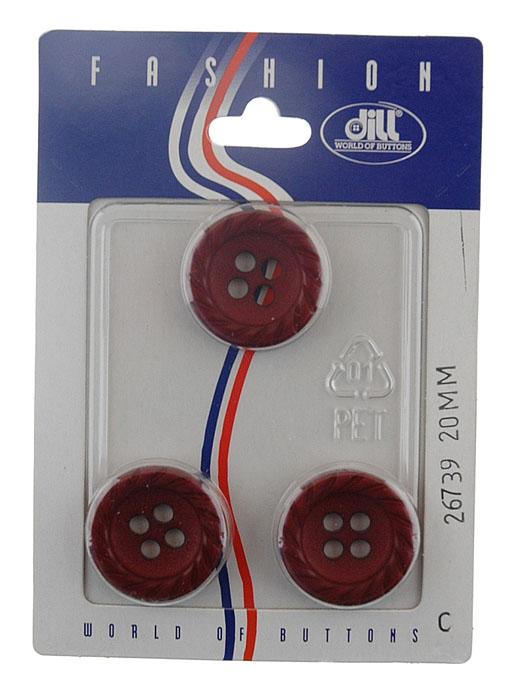Пуговицы Dill, диаметр 20 мм, пластик, 3 шт. 026739/20-3026739/20-3