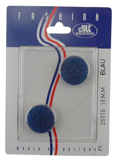 Пуговицы Dill, диаметр 18 мм, пластик, 2 шт. 026816/18-2026816/18-2