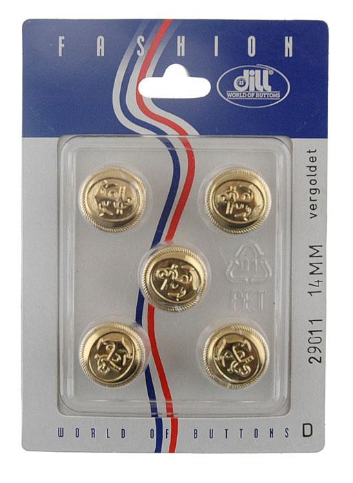 Пуговицы Dill, диаметр 14 мм, пластик, 5 шт. 029011/14-5029011/14-5